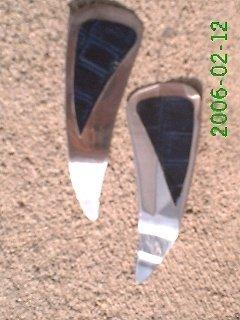 Navy crocodile stamped leather *Zaro design dangle earrings