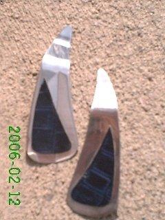 Navy crocodile stamped leather *Zaro 2 design dangle earrings