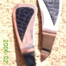 Navy blue crocodile print leather *Zaro design clip-on earrings