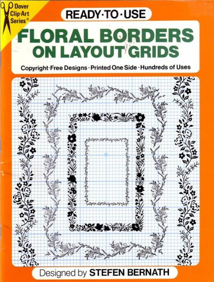 FLORAL BORDERS ON LAYOUT GRIDS ~ ART SCRAPBOOKING, CARD MAKING CRAFT BOOK