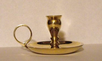 Brass Chamber Chime Candle Holder