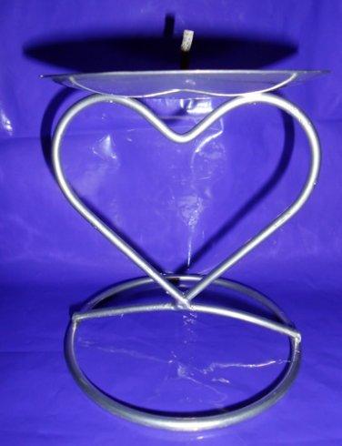 Heart Pillar Candle Holder