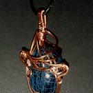 Blue Dragon Vein Agate Pendant-A
