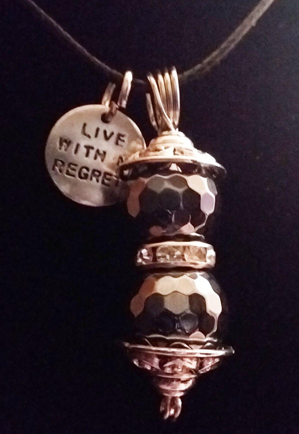 Hematite Gemstone Necklace with Charm