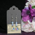 Blue Crackle Agate Earrings
