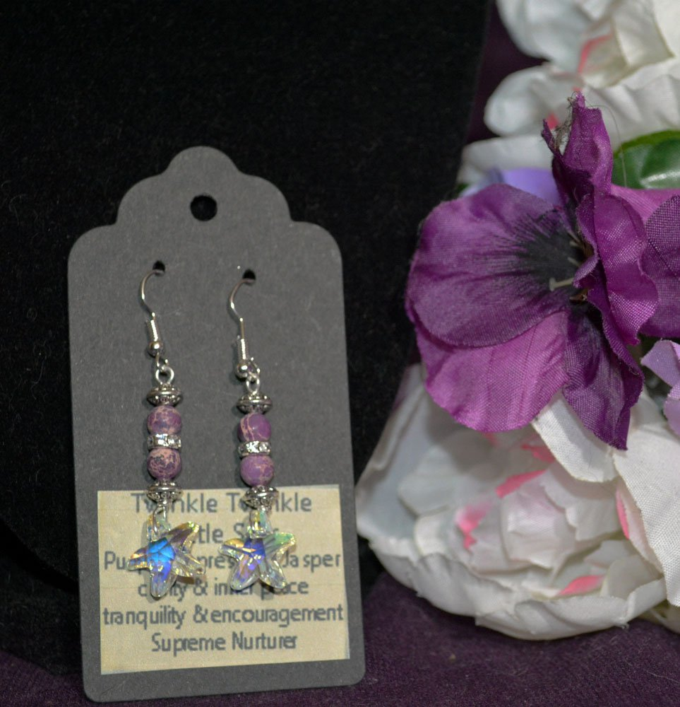 Purple Impression Jasper Earrings