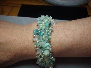 Aquamarine Beaded Bracelet BR-4