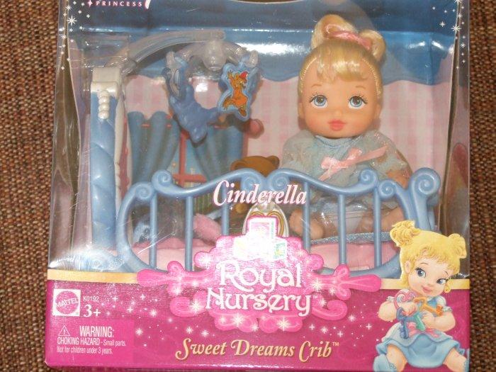 Cinderella Royal Nursery Sweet Dreams Crib Playset