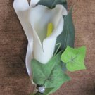 Small White Calla Lily Boutonniere for Wedding or Prom