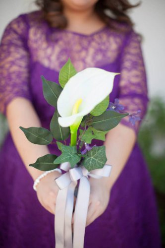 Calla Lily Hand Tied Arm Bouquet for Weddings or Presentaions 1004