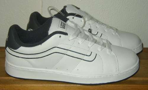 VANS CANTY White Leather Skater Shoes Mens 9.5