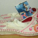 ROXY SIESTA Canvas Espadrille Flat Shoes Womens 8 NEW