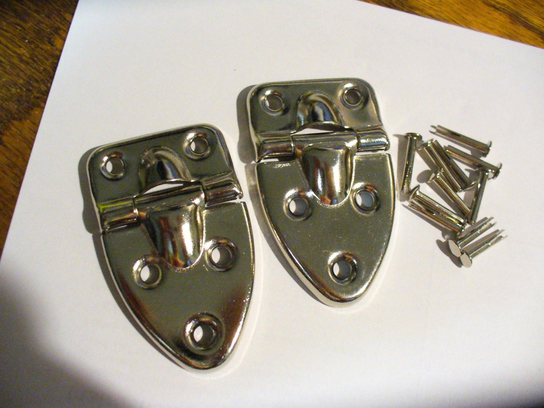Fender USA Nickel Case Hinges (for TKL guitar case or other project!)
