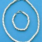 Ladies Motorcycle Bike Chain Bracelet /Necklace Set
