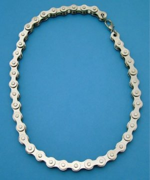 """Chrome Motorcycle Bike Chain Necklace - 18"""""""