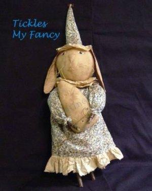 Primitive Easter Bunny Doll  Hannah Hare