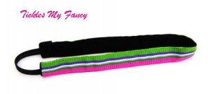 Exercise Non Slip Fashion Headband Pink Green Stripe