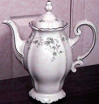 Johann Haviland-blue Garland Tea Pitcher