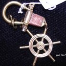 Heavy Duty Brass Ship Wheel Keychain - NAUTICAL / MARITIME - FREE ship!