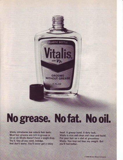 1960s Vitalis V7 Hair Tonic Advertisement
