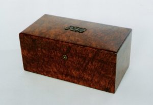 Tiffany Burl Wood Humidor