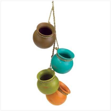 Garden and patio decor, Patio Dangling Mini Pots accents