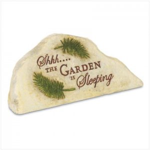 Garden and patio decor, Sleeping Garden Stone/keyholdr, yard art