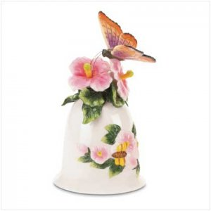 Butterfly Porcelain Bell Set of Two