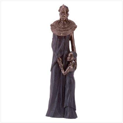 African Decor, 1 set,  Masai Mother & Child and Masai warrior  statues,figurine