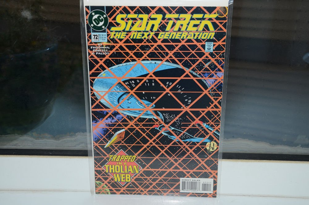 Star Trek The Next Generation DC Comic Book 72 Jun 95 Trapped in a Tholian Web