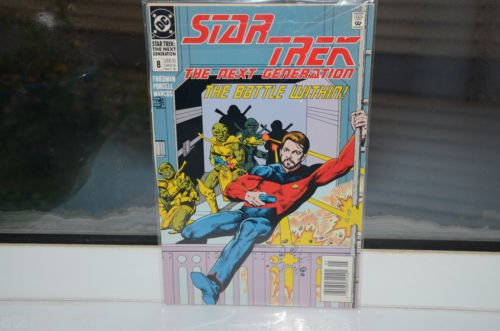 EUC Star Trek The Next Generation DC Comic Book 8  The Battle Within! May 90
