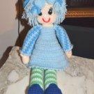 Large Crocheted Knitted knit Crochet Handmade USA Folk Craft stuffed Doll girl