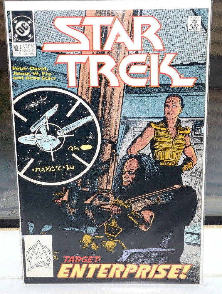 EUC Star Trek Target Enterprise! DC Comic Book 3 Dec 1989 vintage collectible
