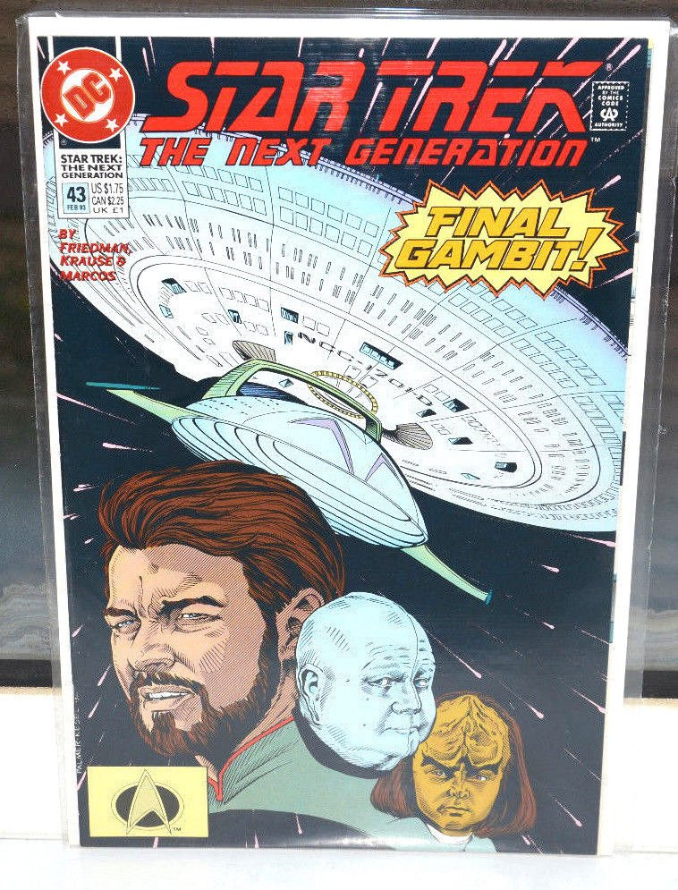 EUC Star Trek The Next Generation DC Comic Book 43 Feb 93 Final Gambit! 1993