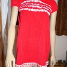 Euc girls Hanna Andersson Christmas XMas Holiday red dress 8 cap sleeve corduroy