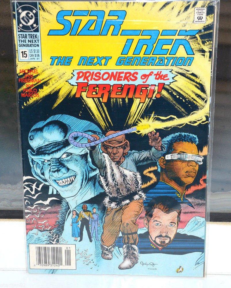 Star Trek The Next Generation DC Comic Book 15 Jan 91 Prisoners of the Ferengi!