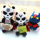 3 plush doll stuffed toy Japan import UFO catcher prize pro wrestler Bandai 1992