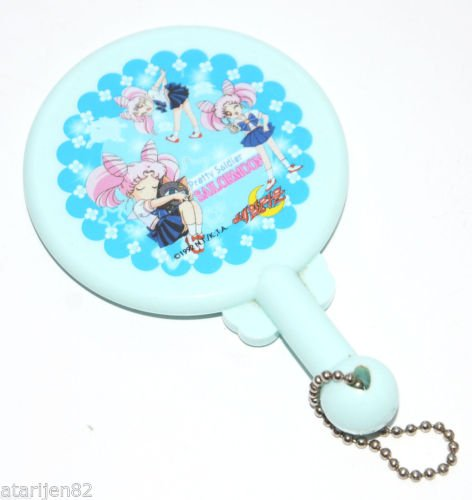 EUC NTKTA 1992 Sailor Moon hand mirror Japan Chibimoon Chibiusa Rini Luna P Ball
