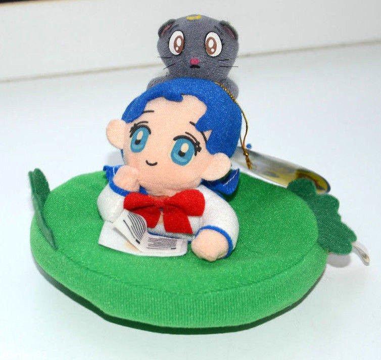 Sailor Moon Sailor Mercury Amy Ami Luna cat plush doll Banpresto stuffed toy pad