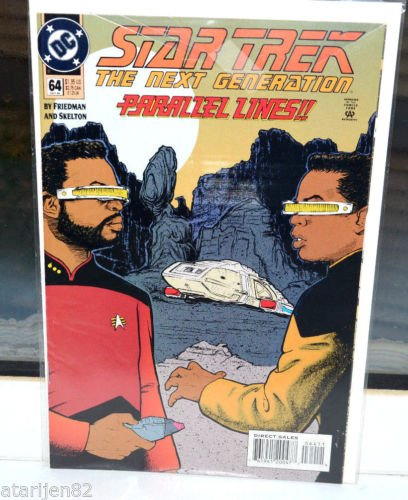 EUC Star Trek The Next Generation DC Comic Book 64 Oct 94 Parallel Lines!! 1994