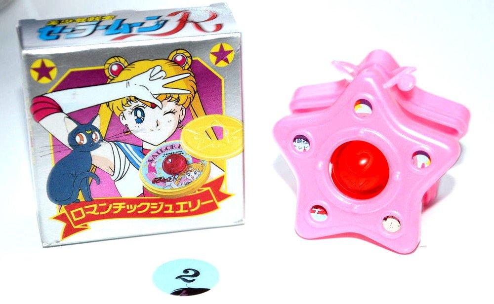 Sailor Moon R Romantic Jewel 2 Compact locket shokugan Japan toy pink star case