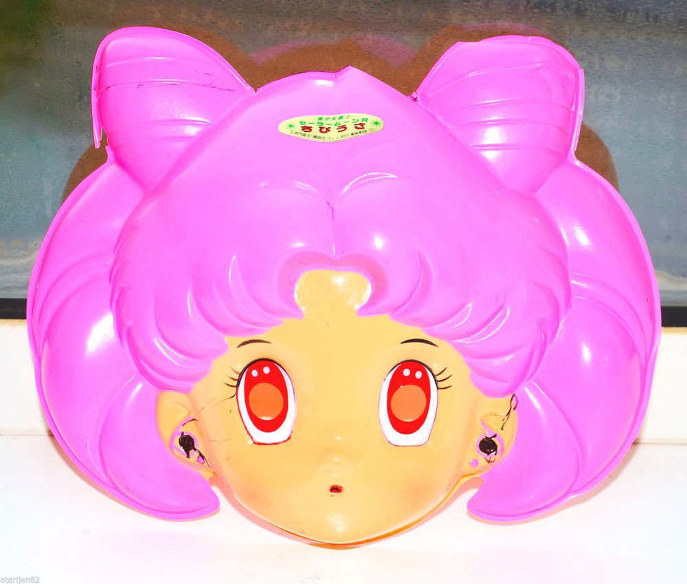 Sailor Moon Chibimoon Rini Chibiusa Plastic Cosplay Halloween Mask Japan SEIKA