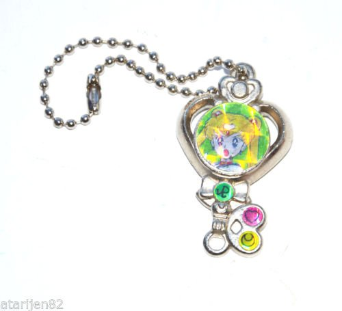 Sailor Moon 90's time key shaped metal chain jewelry made in Japan Japanese
