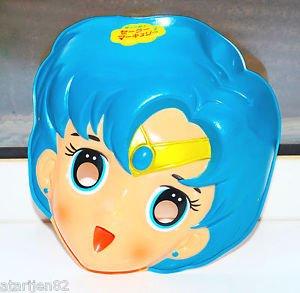 vintage Sailor Moon Sailor Mercury Plastic Cosplay Halloween Mask Japan SEIKA