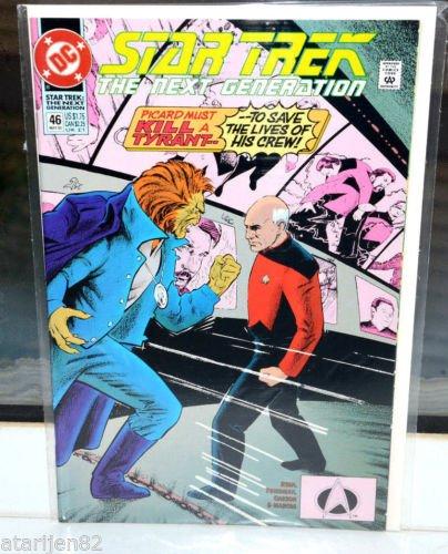Star Trek The Next Generation DC Comic Book 46 May 93 Picard Must kill a Tyrant