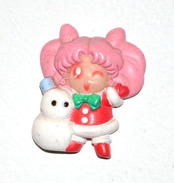 Sailor Moon Christmas Xmas Rini Chibimoon Chibiusa magnet Japan T.K.TA.T Bandai