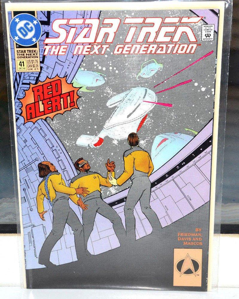 EUC Star Trek The Next Generation DC Comic Book 41 Dec 92 Red Alert! 1992