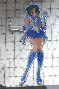 Sailor Moon large prism sticker prismatic Sailor Mercury decal pose