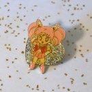 Chibimoon Chibiusa pin heart shaped Sailor Moon vintage Bandai glitter Japanese