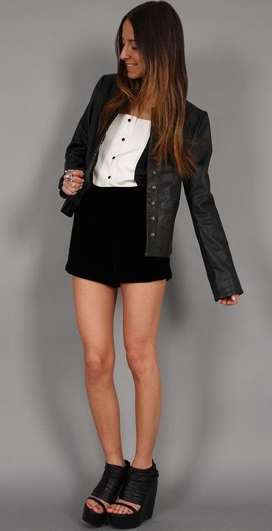 Winter Kate Jo black leather jacket xs lamb 00 extra small tail nicole richie